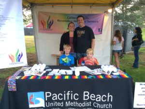 Pastor Bob and family in our 2015 Pride Booth